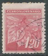 1945 CECOSLOVACCHIA USATO FRONDA DI TIGLIO 120 H - RC22-5 - Usati