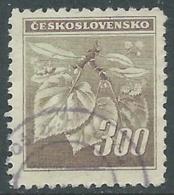 1945 CECOSLOVACCHIA USATO FRONDA DI TIGLIO 300 H - RC22-5 - Usati