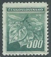 1945 CECOSLOVACCHIA USATO FRONDA DI TIGLIO 500 H - RC22-5 - Usati
