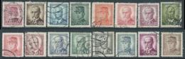 1945 CECOSLOVACCHIA USATO PERSONALITA 16 VALORI - RC22-6 - Usati