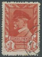 1945 CECOSLOVACCHIA USATO PRESIDENTE TOMAS GARRIGUE MASARYK 1 KR - RC20-4 - Usati