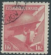 1945 CECOSLOVACCHIA USATO SOLDATI 1 KR - RC22-3 - Usati