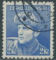 1945 CECOSLOVACCHIA USATO SOLDATI 2 KR - RC22-3 - Usati