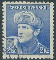 1945 CECOSLOVACCHIA USATO SOLDATI 2 KR - RC22-4 - Usati
