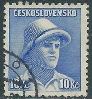 1945 CECOSLOVACCHIA USATO SOLDATI 10 KR - RC22-3 - Usati