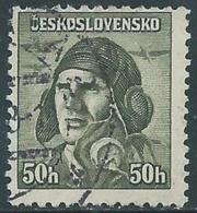 1945 CECOSLOVACCHIA USATO SOLDATI 50 H - RC22-3 - Usati