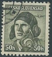1945 CECOSLOVACCHIA USATO SOLDATI 50 H - RC22-4 - Usati