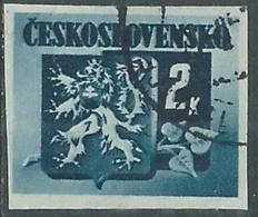 1945 CECOSLOVACCHIA USATO STEMMA E FRONDA DI TIGLIO 2 KR - RC22-3 - Usati