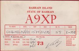 QSL Card Amateur Radio Station CB Funkkarte 1982 Bahrain Island State Of A9XP Keith Hollow Manama Arabia Gulf - Radio Amateur