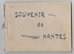 44  NANTES   SOUVENIR DE NANTES  LIVRET DE 18 PHOTOS ANCIENNES   20.5 X 15 + FEUILLE TRANSBORDEUR  VOIR SCANS - Nantes