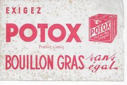BUVARD  BOUILLON  GRAS  POTOX   PRODUIT LIEBIG   20.5  X  13.5 - Buvards, Protège-cahiers Illustrés