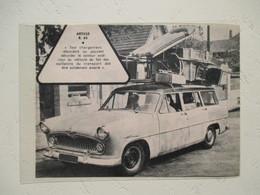 Nouvelle SIMCA  BREAK Pour Le Camping  -   Coupure E Presse De 1960 - Camping