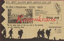 QSL Card Amateur Radio Station CB Funkkarte 1994 The Battle Of Passchendaele 1917 WW1 WWI World War 1 Passendale ZWVRAC - Radio Amateur