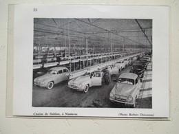 NANTERRE Chaine De Finition Simca Aronde Par Robert DOISNEAU   - Coupure  De Presse De 1959 - Voitures