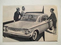 Voiture Américaine - Nouvelle Chevrolet CORVAIR   - Coupure  De Presse De 1960 - Voitures