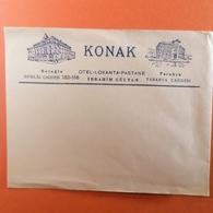 Old Official Envelope Hotel KONAK Beyoglu Istiklal Caddesi & Tarabya Caddesi Otel Lokanta Pastane Ibrahim Gultan Tourism - Advertising