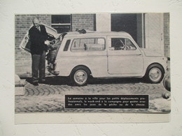 Nouvelle FIAT 500 Break  Jardinière Camping Chasse & Pêche - Coupure  De Presse De 1960 - Voitures