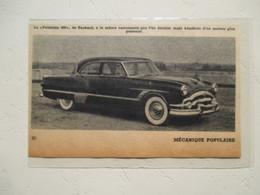 Voiture Américaine Packard Patrician 400 - Coupure  De Presse De 1953 - Voitures