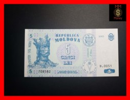 MOLDOVA 5 Lei  2005  P. 9 D  UNC - Moldova