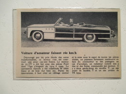 USA Voiture Américaine - Construction Amateur Carrosserie En Bois De Frêne & Moteur Ford  - Coupure  De Presse De 1950 - Voitures