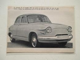 Voiture Nouvelle Panhard PL 17  - Coupure  De Presse De 1950 - Voitures