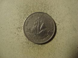 MONNAIE CARAIBES ORIENTALES 25 CENTS 1986 - Territoires Britanniques Des Caraïbes