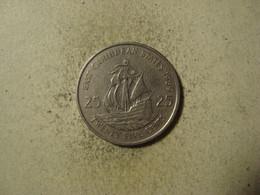 MONNAIE CARAIBES ORIENTALES 25 CENTS 1989 - Territoires Britanniques Des Caraïbes