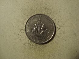 MONNAIE CARAIBES ORIENTALES 25 CENTS 1987 - Territoires Britanniques Des Caraïbes