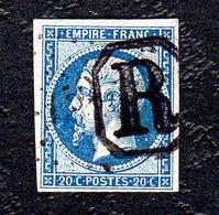 NAPOLEON III N°14Ab Bleu Noir - 1853-1860 Napoleon III