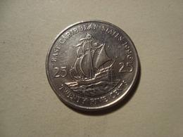 MONNAIE CARAIBES ORIENTALES 25 CENTS 1996 - Territoires Britanniques Des Caraïbes