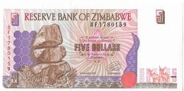 ZIMBABWE=1997     5  DOLLARS    P-5a      UNC - Zimbabwe