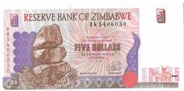 ZIMBABWE=1997     5  DOLLARS    P-5b      UNC - Zimbabwe