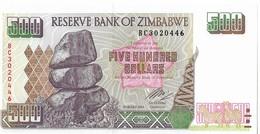 ZIMBABWE=2004     500  DOLLARS    P-11      UNC - Zimbabwe