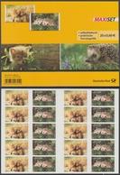 !a! GERMANY 2014 Mi. 3053-3054 MNH BOOKLET(20) (self-adhesive) -Animal Babys - Carnets