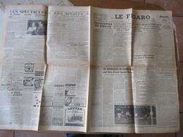 LE FIGARO DU 13 NOVEMBRE 1946 ACCIDENT EN GARE DE REVIGNY,LES BOURGEOIS DE HAMBOURG SONT FIERS D'AVOIR BOUDE HITLER - Zeitungen