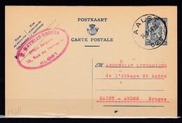 Postkaart Van Aalst C2C Naar Saint Andre Brugge - 1935-1949 Kleines Staatssiegel