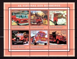 Guinea-Bissau, 2001. [gb0120] Fire Trucks - Cars