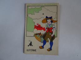 CPA   LES PROVINCES FRANCAISES GUYENNE PUBLICITE  LION NOIR TBE - Frankrijk