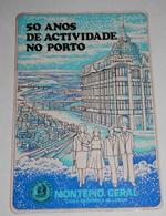 PETIT  CALENDRIER DE LE BANQUE  MONTEPIO GERAL DE PORTUGAL  - 1982 - Calendriers