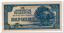 NETHERLANDS INDIES,1/2 GULDEN,1942,P.122b,XF - Indonesië