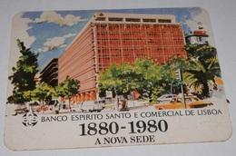 PETIT  CALENDRIER DE LE BANQUE  ESPIRITO SANTO E COMERCIAL DE LISBOA  - 1981 - Calendriers