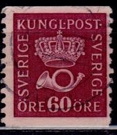 Sweden, 1920, Crown And Horn, 60ö, Sc#148. Used - Sweden