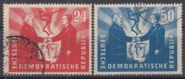 DDR  284-285, Gestempelt, Deutsch-polnische Freudschaft 1951 - DDR