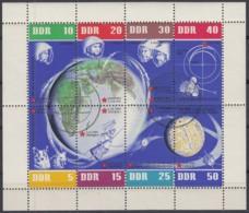 DDR  926-933, Kleinbogen, Gestempelt, 5 Jahre Weltraumflüge 1962 - Blocks & Kleinbögen