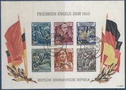DDR  Block 13, Gestempelt, Friedrich Engels 1955 - Blocks & Kleinbögen