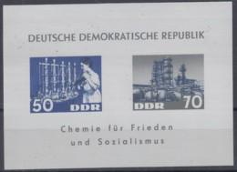 DDR  Block 18, Postfrisch **, Chemische Industrie 1963 - Blocks & Kleinbögen