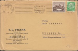 DR 515, 730 MiF Auf Brief Von S. L. Frank, Vertr. Der Langbei-Pfanhauser-Werke Mit Stempel: München 2.1.1940 - Briefe U. Dokumente