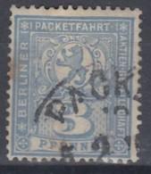 DR  Berlin Paketfahrt 67a, Gestempelt, Privatpostmarke 1896 - Private
