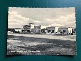 CATANIA AEROPORTO CIVILE, SULLO SFONDO L'ETNA   1957  AEREO - Catania