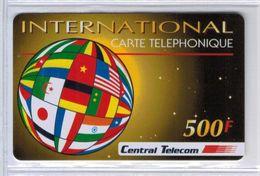 Top Collection - RARISSIME - CENTRAL TELECOM 500 F Avec Code Gratté Et Numéro De Série - Voir Scans - France